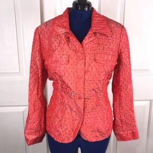 NWT Lane Bryant 14/16W textured coral jacket
